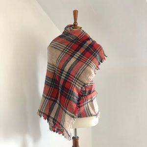 Accessories - Tartan Plaid Blanket Scarf